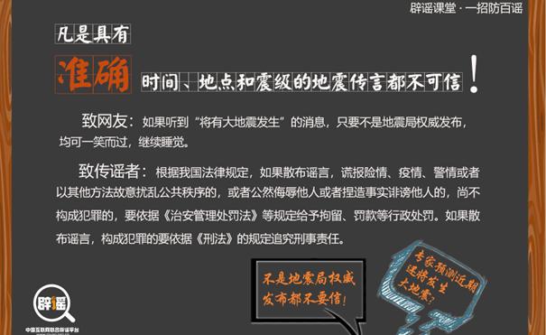 [一招识百谣]地震预报谣言如何破?